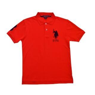 【US POLO】經典戰馬短袖POLO衫-紅(美國時尚品牌服飾)