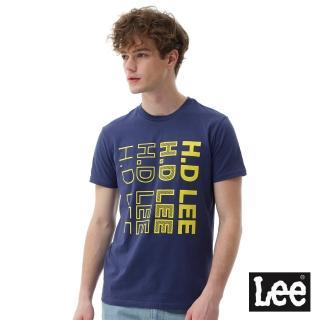 【Lee】HD LEE漸層短袖圓領TEE/SMU-男款-藍(短袖、圓領)