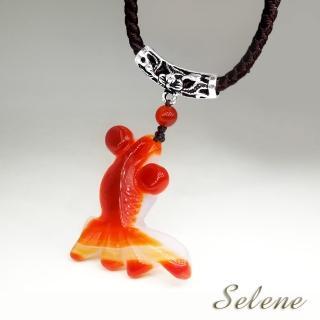 【Selene珠寶】如魚得水紅瑪瑙金魚墜練(特價限量商品)
