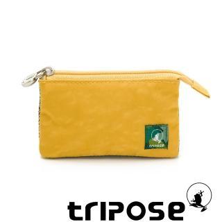 【tripose】漫遊系列岩紋簡約微旅萬用零錢包(黃)
