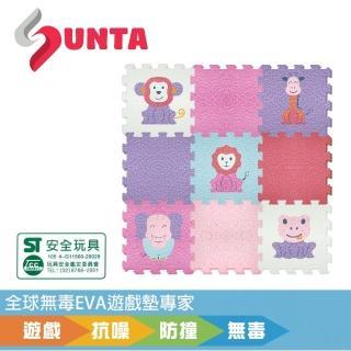 【SUNTA拼接樂扣墊】可愛動物B(EVA樂扣遊戲墊-30*30*1cm 9片裝)