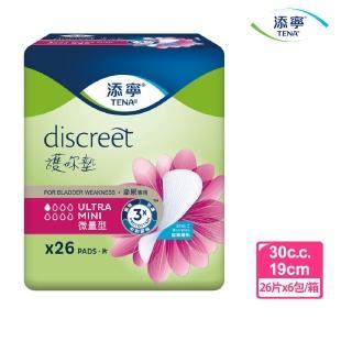 【箱購-添寧】護妳墊-微量型26片X6包(滲尿專用 3重呵護)