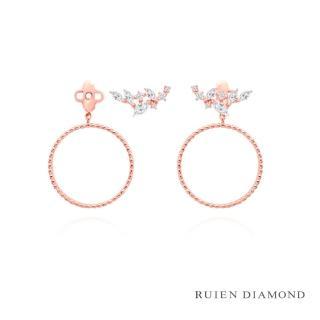 【RUIEN DIAMOND】韓國輕珠寶 飾品 配件(14K 玫瑰金 耳環 JE7360)
