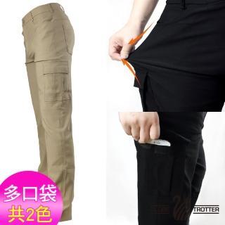 【遊遍天下】台灣製男款彈力超顯瘦休閒長褲 二色(M-3L)