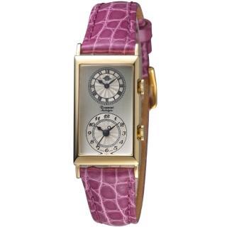 【玫瑰錶 Rosemont】雙時區典雅時尚腕錶(TN010-01-LVO)
