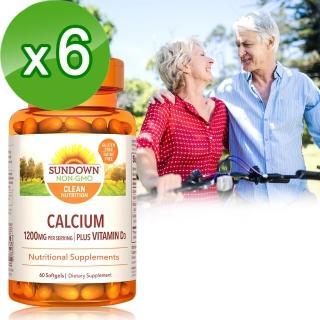 【美國Sundown日落恩賜】高單位液態鈣600 plus D3軟膠囊60粒(6瓶組)