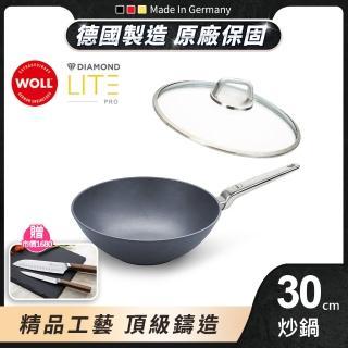 【德國 WOLL】Diamond Lite Pro 鑽石不沾系列30cm 中華鍋(含蓋)