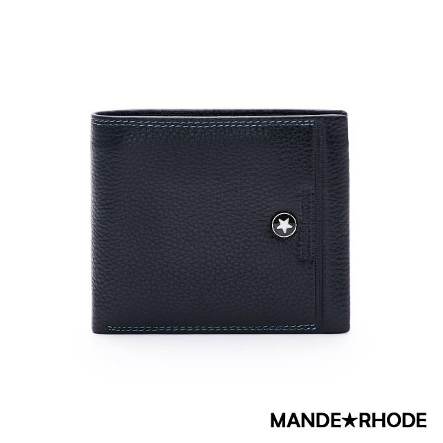 【MANDE RHODE】貝加莫-美式牛皮製編織造型短夾(86344-B)