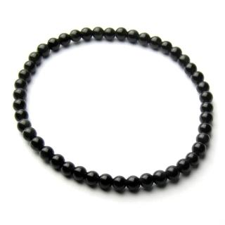 【開運工場】4mm天然黑曜石辟邪串珠手環(可選手圍尺寸)/