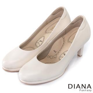【DIANA】漫步雲端布朗尼I款--輕彈舒適OL制鞋(米)