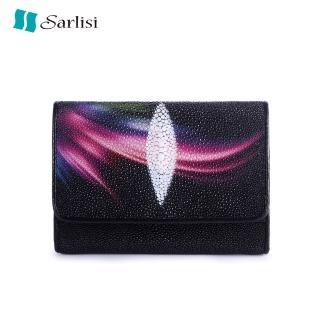 【Sarlisi】歷史最低價 泰國原創珍珠魚皮短夾皮夾三折錢包(今日特價 明天漲價 原價3980現價2980 買到賺到)