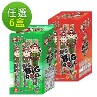 【泰國小老板】海苔棒棒捲_任選6盒組(原味/辣味)