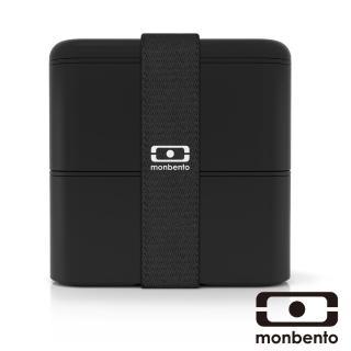 【MONBENTO】原創方型便當盒-黑色(MB-120003002)