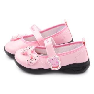 【童鞋城堡】粉紅豬小妹 佩佩豬 中童 水鑽甜美公主鞋(PG8517-粉)