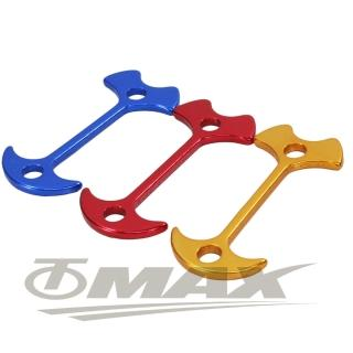 【omax】鋁合金魚骨地釘-加長版-8入(顏色隨機)