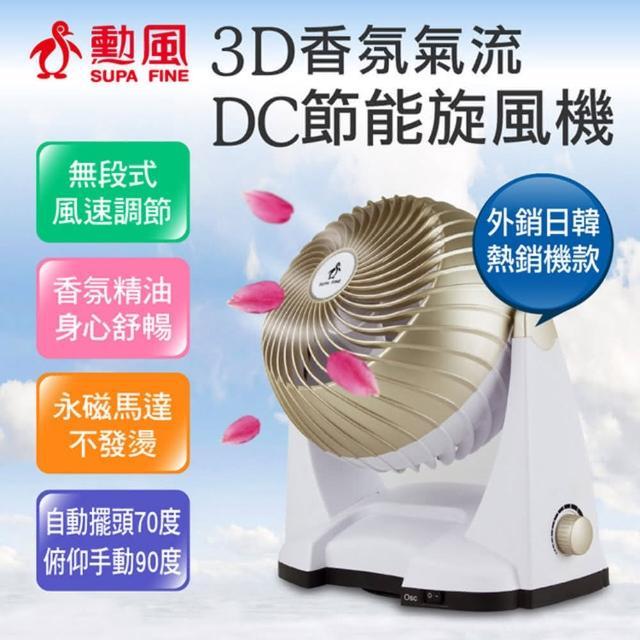 超值兩入組-【勳風】3D香氛氣流DC節能旋風扇(HF-B86DC)