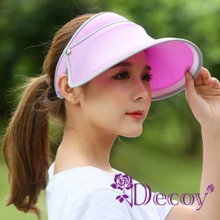 【Decoy】機能透氣*防曬彈性掀蓋遮陽帽/粉