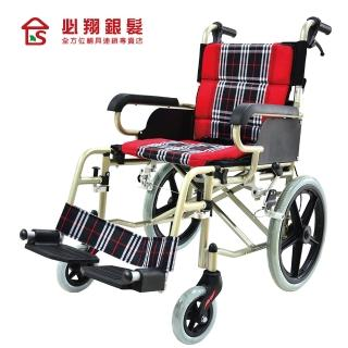 【必翔銀髮樂活館】輕便看護輪椅 PH-164A(未滅菌)