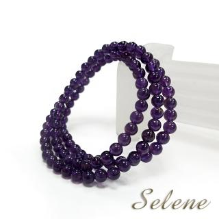 【Selene珠寶】智慧靈動紫水晶三圈手珠(5.5mm)