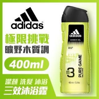 【adidas愛迪達】男用三效潔顏洗髮沐浴露-極限挑戰(400ml)