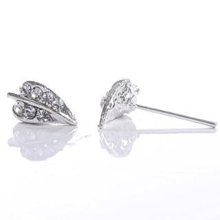 【Lady c.c.】浪漫春雨葉脈造型耳環