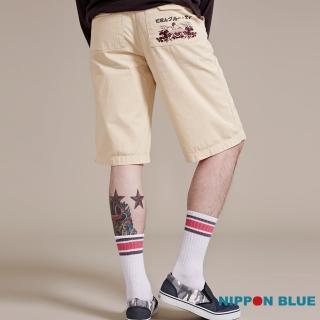 【BLUEWAY-日本藍】日本藍印繡花意象短褲
