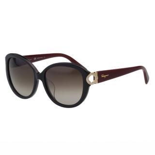 【Salvatore Ferragamo】-太陽眼鏡 優雅簡約(黑色)