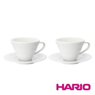 【HARIO】V60白色雲朵咖啡杯盤組2入(CCS-5012W)