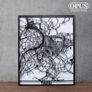 【OPUS 東齊金工】金屬藝術掛畫/壁飾/3D立體掛畫/抽象畫/客廳掛畫(TP-ta02 TAIPEI)