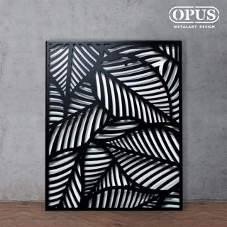 【OPUS 東齊金工】金屬藝術掛畫/壁飾/3D立體掛畫/抽象畫/客廳掛畫(TP-pl10 熱帶風情-芭蕉葉)