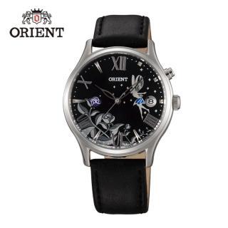 【ORIENT 東方錶】HAPPY STREAM系列 蝶戀仙子機械錶 皮帶款  黑色 - 36mm(FDM01006B)