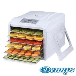 【Dennys丹尼斯】微電腦定時溫控6層不鏽鋼層架蔬果烘乾機(DF-6090S)