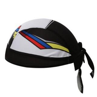 【米蘭精品】海盜帽頭巾運動防曬(簡約黑白拼接造型路跑登山自行車綁帽頭巾73fo57)