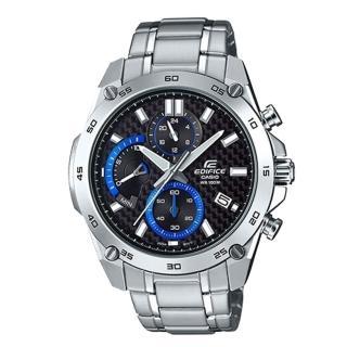 【CASIO 卡西歐 EDIFICE 系列】編織感黑色格紋設計_極速時尚風錶款_簡約個性魅力男錶(EFR-557CD)