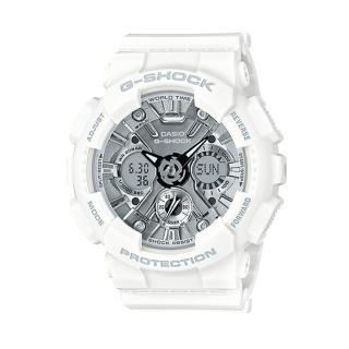 【CASIO卡西歐G-SHOCK 系列】時尚潮流造型女錶_專屬活力金屬風格_青春洋溢學生錶(GMA-S120MF)