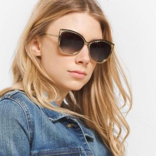 【MICHAEL KORS太陽眼鏡】歐美時尚貓眼(銅#MK1020 116313)