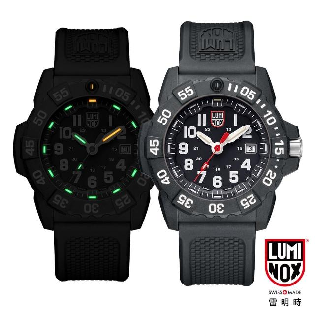 【LUMINOX 雷明時】NAVY SEAL 3500全新海豹2代系列腕錶-黑x白時標(45mm)