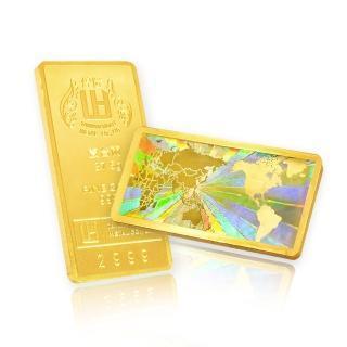 【煌隆】世界地圖台灣限定金條(金重37.5公克)