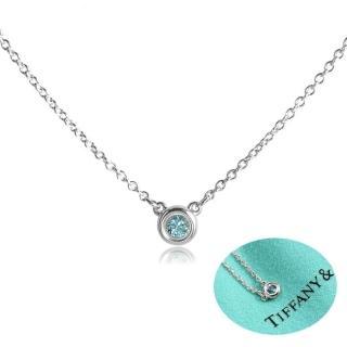 【Tiffany&Co.】Elsa Peretti 純淨圓形海藍寶石純銀項鍊