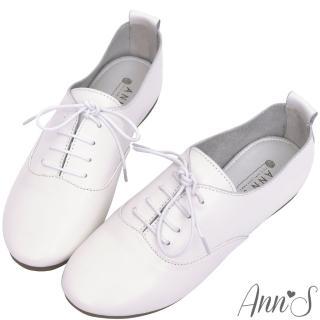 【Ann'S】全羊皮Q軟文青牛津英倫小白鞋(白)