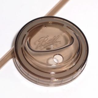 【美國Ball】多功能蓋子吸管組-寬口灰(2入/組)