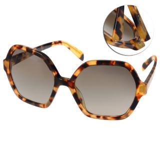 【PRADA太陽眼鏡】時尚六角大框款(裸琥珀#PR06S 7S04K1)