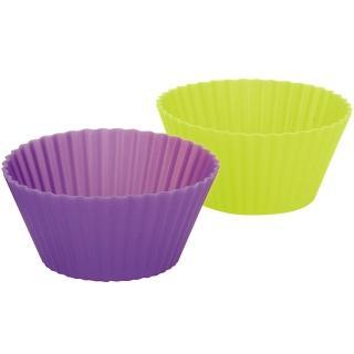 【IBILI】雙色矽膠瑪芬烤杯6入(圓7cm)
