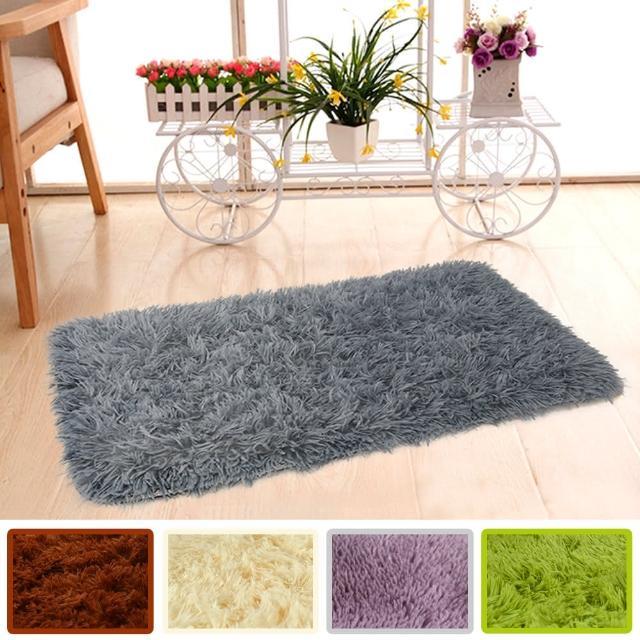 【幸福揚邑】長毛羊絲絨地墊40x60cm防滑吸水超軟舒壓地毯/