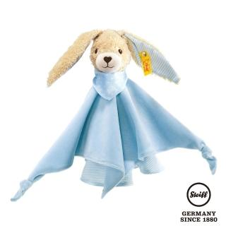 【STEIFF德國金耳釦泰迪熊】有機棉兔 Hoppel Rabbit Comforter(嬰幼兒安撫巾)