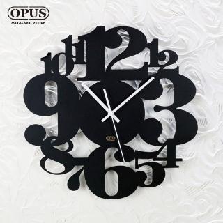 【OPUS 東齊金工】歐式鐵藝時鐘 / 靜音壁掛鐘 / 造型壁鐘(CL-ar06B 數字遊戲_經典黑)