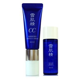 【KOSE高絲】雪肌精透亮煥白CC霜30g+雪肌精淨透潔顏油N 33ml(正統公司貨)