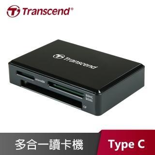 【創見 Transcend】RDC8K2 USB3.1/Type-C 多合一讀卡機 靚亮黑(TS-RDC8K2)