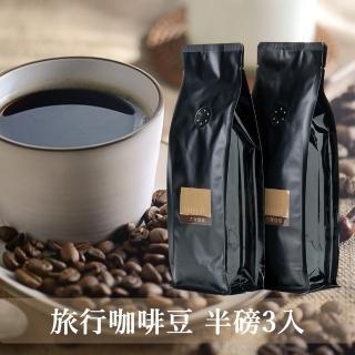 【大隱珈琲】旅行系列 嚴選咖啡豆_半磅裝3入(亞洲+義大利+南美)