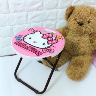 【ONE 生活】正版Hello kitty手提式折合椅(兒童椅.折疊椅)